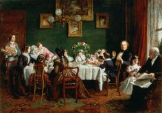 """Many Happy Returns of the Day"", William Powell Frith, 1856; Mercer Art Gallery HARAG 46"
