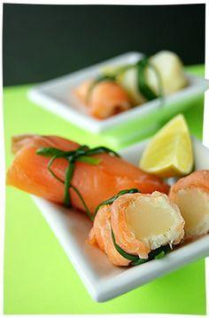 Pacchettini di salmone affumicato