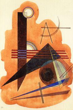 'Obstinate Brown' - Wasilly kandinsky - (1925)