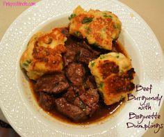 Beef Burgundy with Baguette Dumplings Recipe