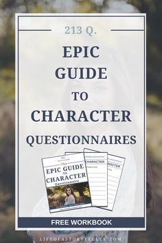 213 questions to get to know your characters. Become a stronger write because of it.