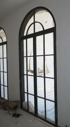 Contemporary Windows Garden Doors - kitchen? Garden Windows, Garden Doors, Contemporary Windows, Contemporary Decor, Chapel Conversion, Kitchen Hardware, Iron Doors, Cozy Living Rooms, Entry Doors