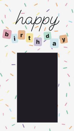 Birthday Captions Instagram, Birthday Post Instagram, Happy Birthday Template, Happy Birthday Frame, Birthday Posts, Instagram Story Ideas, Instagram Quotes, Fond Design, Happy Birthday Quotes For Friends