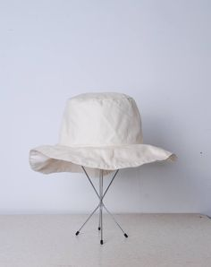 70s off white sunhat boating beach vacation womens vintage accessories circle floppy hat 1970 1980 boho hippie pinup fashion sunbonnet by furhatguild on Etsy