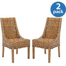 Walmart: Safavieh Suncoast Arm Chair, Set of 2, Brown