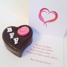 Giant chocolate heart with fun Valentine poem! Great Gift for Best Friend by DiamondChocolates Valentine Poems, Valentine Day Love, Valentine Gifts, Best Friend Gifts, Girls Best Friend, Gifts For Friends, Best Friends, Giant Chocolate, Chocolate Hearts