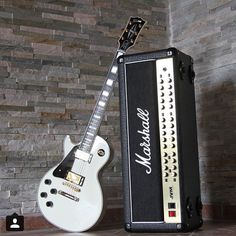 Doesn't get any more classic than Gibson into Marshall, thanks @lefthand_69 #guitarspotter #gibson #lespaul #marshall #jvm