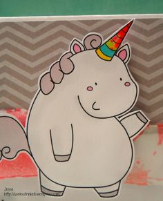Useless Trinkets Digi Stamp freebie cookie jar, the unicorn - Cookie Jar, the unicorn card I'll stab you with my unicorn card creepy detail