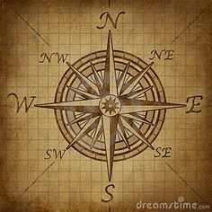 Compass rose with grunge texture by Skypixel, via Dreamstime
