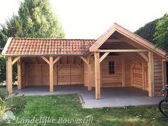 Diy Storage Shed Plans, Garden Storage Shed, Backyard Pavilion, Backyard Bar, Wood Patio, Diy Patio, Rinder Stall, Outdoor Restaurant Patio, Shed Playhouse