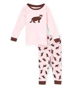 Pink Cat Pajamas - Infant Toddler & Girls