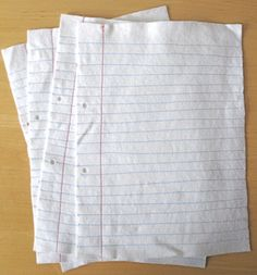 Etsy Felt Lined Paper from the Etsy Store of IndiaRosePrince here. There are even holes to put them in a notebook. I love this idea. You could embroider whatever you wanted to on this. And for those of you who can't afford it, do you own a sewing machine?