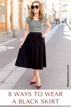 One piece of clothing that any woman can wear is a skirt. Since there are so many different styles, you can find one that works best for your body shape and pair it with other pieces to create a look suited just for you! Whether you're a pleated skirt kind of lady, or you prefer pencil skirts, these 8 looks will definitely give you inspiration. Try them out and see which one works best for you!