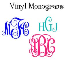 Monogrammed Vinyl Decal For Car Monogram Decal Sticker Laptop - Vinyl decals for phone cases