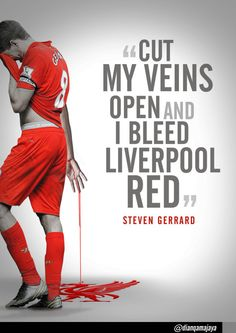 The continually impressive provides this stirring Steven Gerrard quote graphic. [don't support Liverpool but this is awesome] Liverpool Anfield, Liverpool Home, Liverpool Football Club, Liverpool Badge, Liverpool Tattoo, Liverpool Players, Football Quotes, Best Football Team, Soccer Quotes