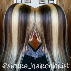 - All For Hair Cutes Chunky Highlights, Hair Color Highlights, Fall Hair Colors, Cool Hair Color, Low Lights Hair, Hair Streaks, Corte Y Color, Brown Blonde Hair, Locks