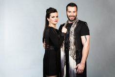 "Marta Jandova and Vaclav Noid Barta from Czech Republic reveal their song ""Hope Never Dies"". Eurovision Song Contest, Alternative Rock Bands, Czech Republic, Adidas Jacket, Kimono Top, Short Sleeve Dresses, Singer, Actresses, Actors"