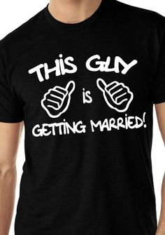 Grooms shirt for bachelor party, getting ready pics and to wear during the engagement period. LOVE IT!