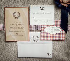 Rustic Equestrian Horse Invitation