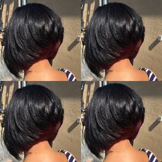short hairstyles pixie Over 60 Wavy Bob Hairstyles, Girl Hairstyles, Pretty Hairstyles, Layered Bob Hairstyles For Black Women, Curly Hair Styles, Natural Hair Styles, Birthday Hair, Sassy Hair, Relaxed Hair