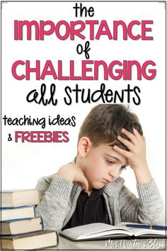 Students who have a growth mindset embrace challenges and are not afraid to fail. It is important to normalize the struggle and provide lessons and activities to the kids in our classroom that will be challenging. This post shares ideas and free activities to challenge students. #growthmindset #challenge #teaching #firstgrade #secondgrade  #mrswintersbliss