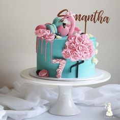 """1,266 Likes, 37 Comments - Sandy's Cakes (@sandyscakes) on Instagram: """"Samantha's flamingo cake for her 7th birthday @thesecretgarden_cafe . . Original design by…"""""""
