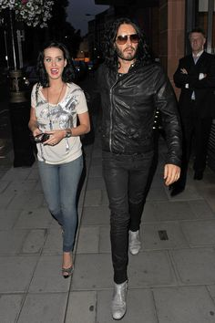 Katy Perry and Russell Brand at Cipriani
