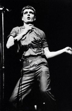 Ian Curtis on stage, London, 1980