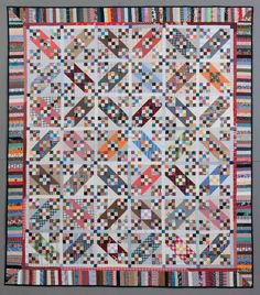Tumalo Trail quilt by Bonnie Hunter   Quiltville.  Fun with 9 patches and half square triangles, based on a traditional Jacob's Ladder design.