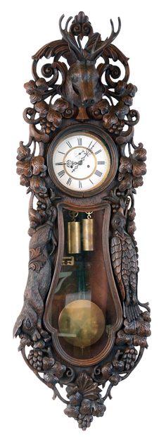 Vienna regulator wall clock, 8 day, time and strike, weight driven mo. Clock Labels, Lion Head Tattoos, Clock Repair, Clock Shop, Pendulum Clock, Cool Clocks, Luxury Kitchen Design, Clock Parts, Grandfather Clock