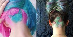 Az oldalt felnyírt női hajak után itt egy újabb extrém őrület: az alul felnyírt haj.