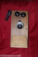 Antique Hand Crank Wall Mount Telephone Stromberg-Carlson B-1170, Early 1900