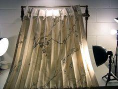 Vintage Drapes Silk-y Drapes Mid Century Drapes Pinch Pleat