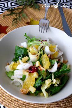 Salade d'endives aux oranges et aux noix - Cuisinons En Couleurs
