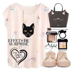 """""""Meow"""" by erohina-d ❤ liked on Polyvore featuring beauty, Jil Sander, Givenchy, Bobbi Brown Cosmetics, Kate Spade, Creative Co-op and Chicnova Fashion"""