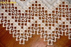 Hardanger embroidery | Here it is my new hardanger embroidery runner !! I can't stop admiring ...