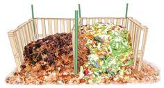 Wooden Pallet Compost Bins