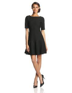 Isaac Mizrahi New York Women's Elbow Sleeve Icon Boat Neck Dress at Amazon Women's Clothing store