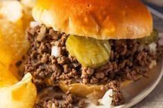 The Conners' Loose Meat Sandwiches: Take a Trip Back to the With This Recipe Roseanne Loose Meat Sandwich Recipe, Loose Meat Sandwiches, Wrap Sandwiches, Made Right Sandwich Recipe, Maid Rite Sandwiches, Hot Sandwich Recipes, Vegan Sandwiches, Roast Recipes, Ground Beef Recipes