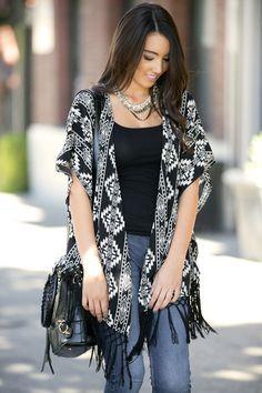 Aztec Ambition Kimono Cardigan