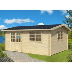 Greenway 4.8m x 3.8m Tollymore Log Cabin - http://www.sheds.co.uk/greenway-4-8m-x-3-8m-tollymore-log-cabin.html