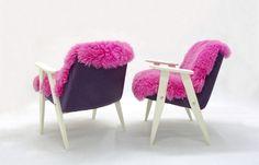 """Fotel Futrzak """"Różowy Futrzak"""" http://polish-design.co.uk/portfolio/fotel-futrzak-rozowy-futrzak/"""
