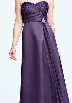 David's Bridal Bridesmaid Dresses - pretty if we want to go satin
