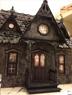 Greenleaf Orchid Haunted Dollhouse, still in progress...