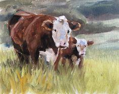 Cow Painting, Cow Art, Cow PRINT - Cow Oil Painting, Holstein Cow, Farm Animal Art, Farmhouse Art, Prints of Farm Animals, Farm Wall Art by JamesCoatesFineArt2 on Etsy Holstein Cows, Cow Painting, Cow Art, Cattle, Farm Animals, Wrapped Canvas, Original Paintings, Farmhouse, Oil