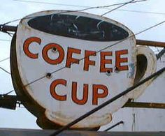Awesome, vintage coffee house sign in my home town of Charlotte, NC. It was a great place to eat! Coffee Tin, Vintage Coffee, Coffee Love, Coffee Cups, Different Kinds Of Coffee, Maple Bars, Donuts, Food Network Star, Old Signs