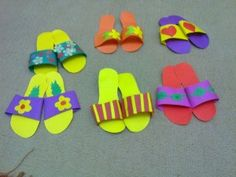 23 Best Slippers Craft Idea Images Day Care Preschools Crafts