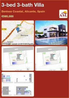 3-bed 3-bath Villa in Benissa Coastal, Alicante, Spain ►€595,000 #PropertyForSaleInSpain