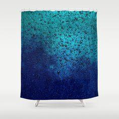 Sea Green Blue Texture Shower Curtain #shower #curtain #showercurtain #bathroom #sea #blue #green #bath #homedecor #texture #bubbles #bubble