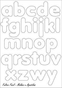 Alfabeto em feltro